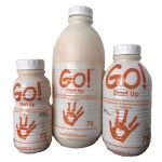 GO! F75 three bottle sizes